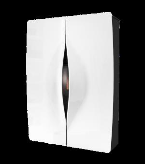 Toplozračna kaminska peč na razpih turbo compact design C10